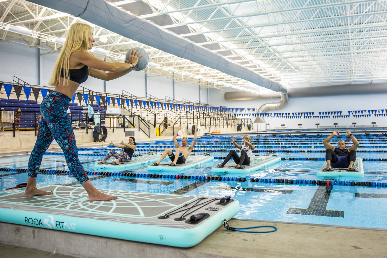 A Balancing Act Floating Fitness Platforms Provide