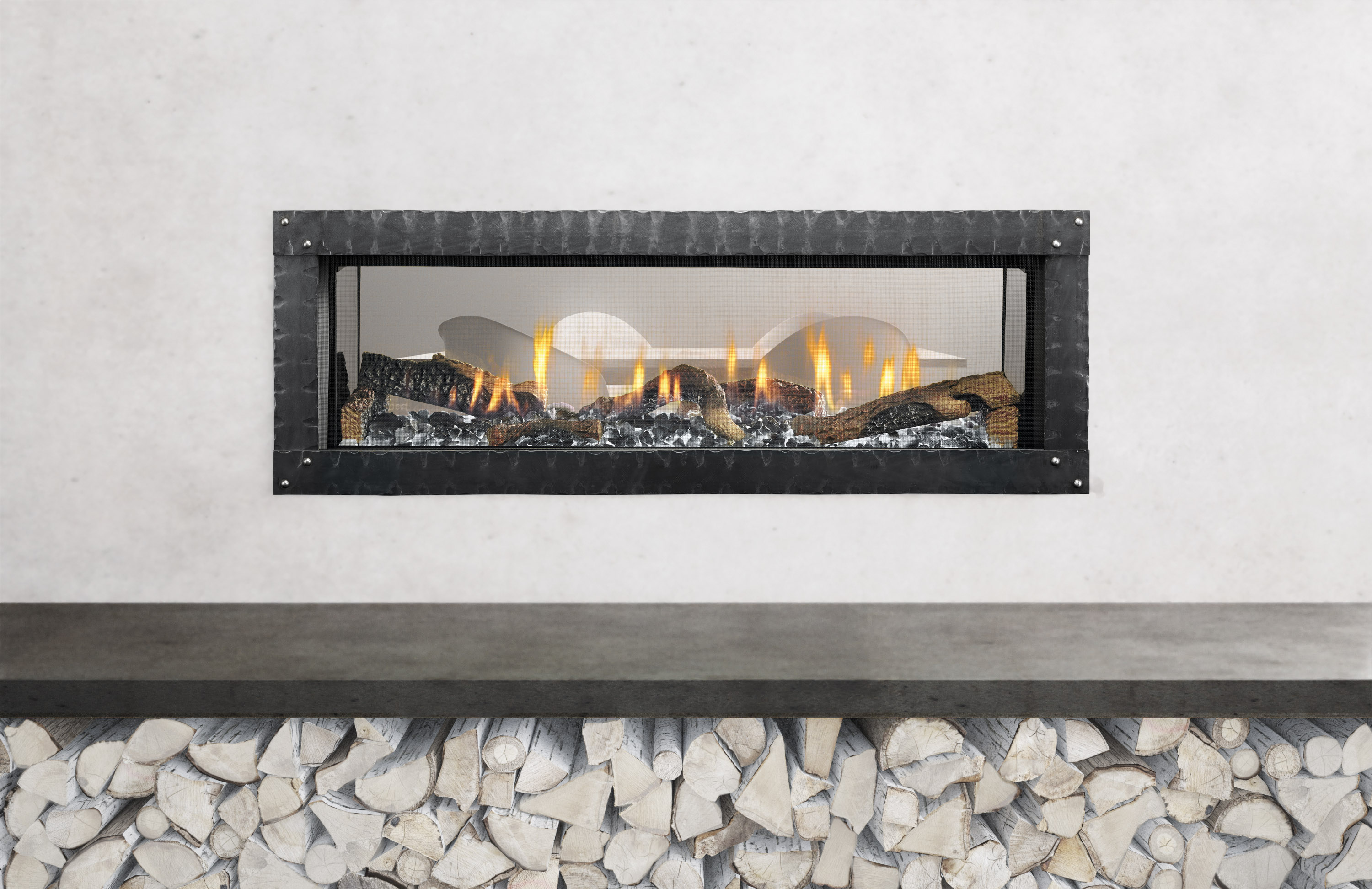 Linear Fireplaces Trend Up Even Behind Barrier Screens