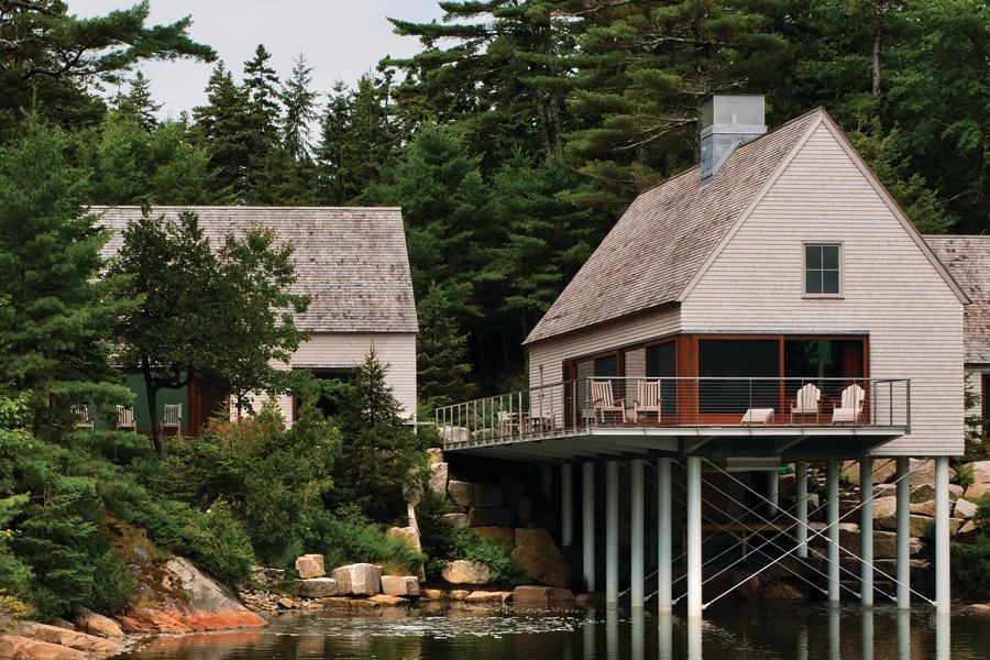 New meets old on the coast of maine residential for Maine residential architects