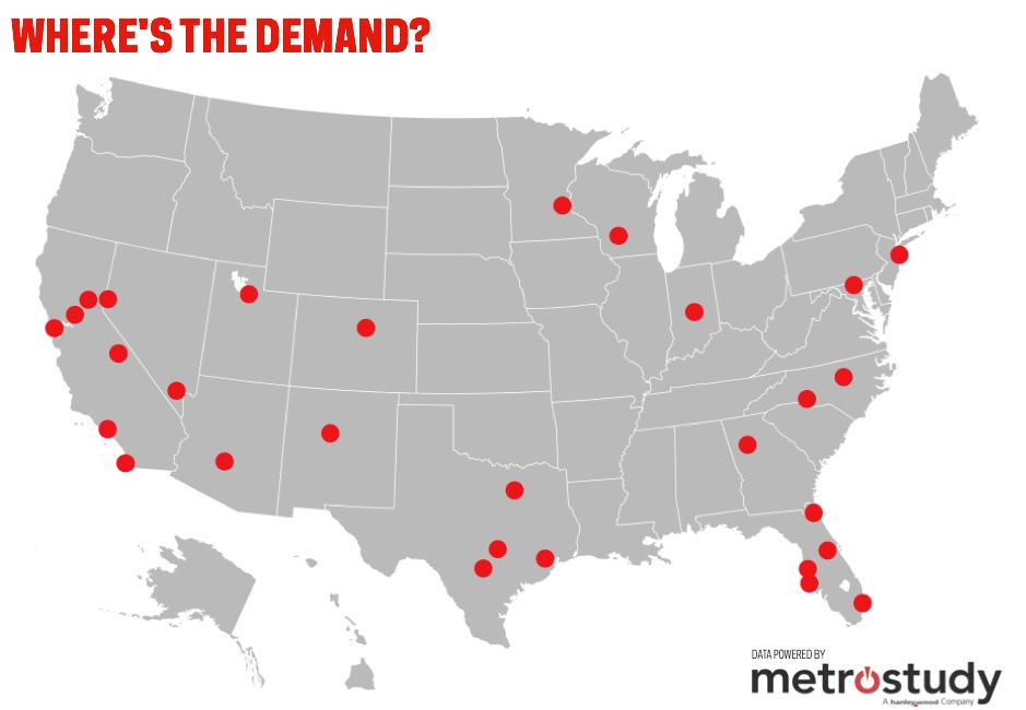 Where In The U S Is New Home And Lot Demand Peaking