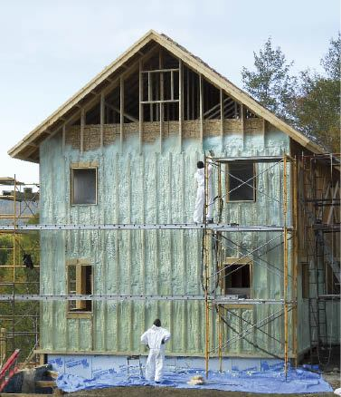 Insulating With Exterior Spray Foam Jlc Online Building Envelope Exteriors Formwork