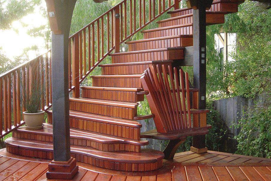 Curve Appeal Professional Deck Builder Staircases