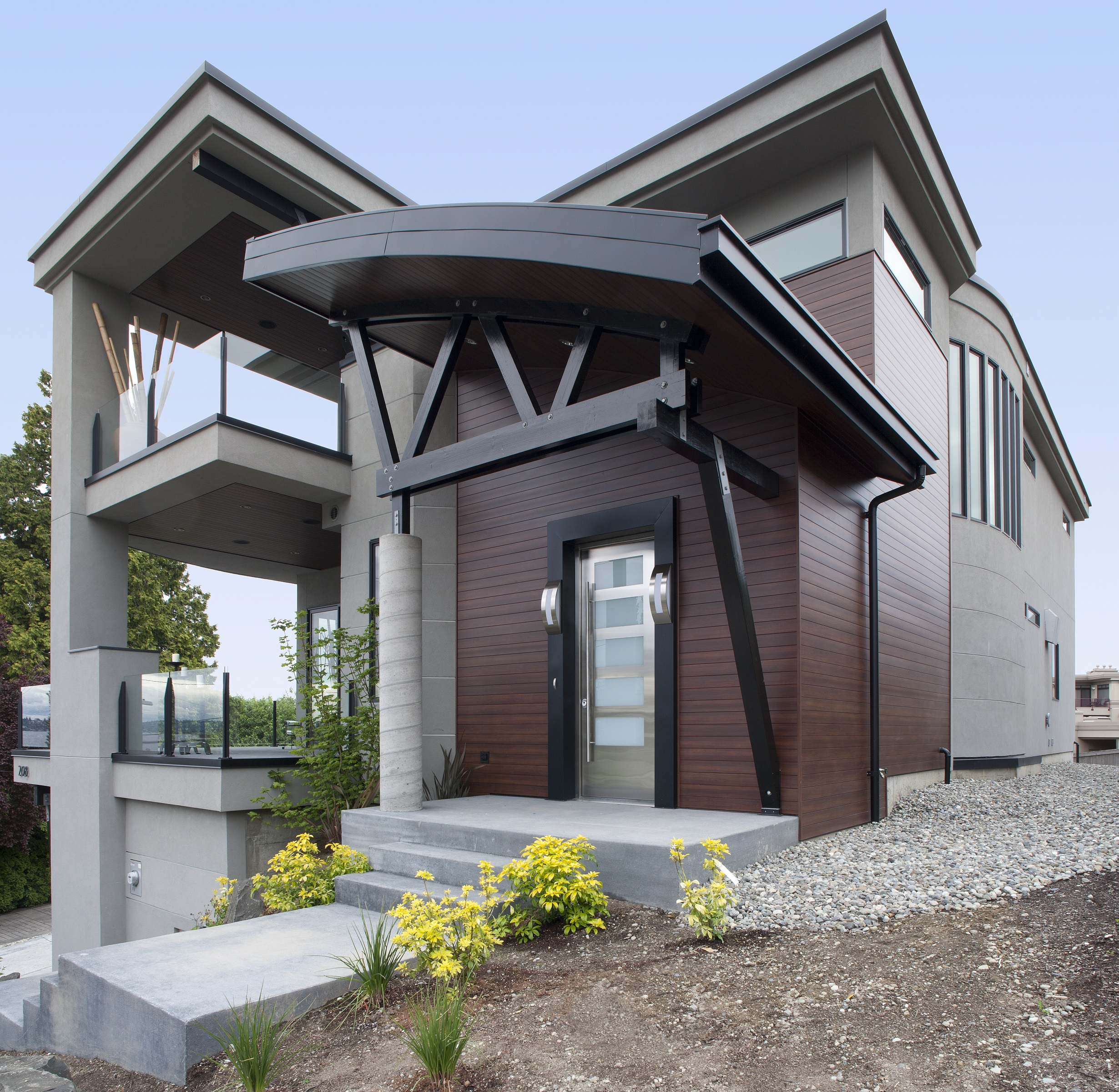 Passive solar home architect magazine kirkland wa for Modern home builder magazine