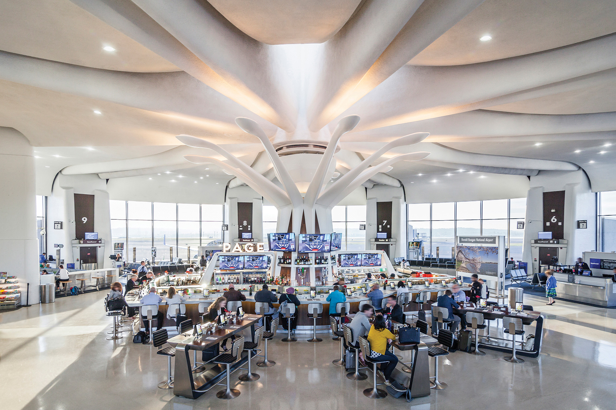 Page Reagan National Airport Architectural Lighting