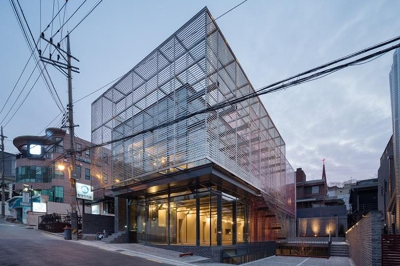 Red Mirror Strips Architect Magazine Wise Architecture