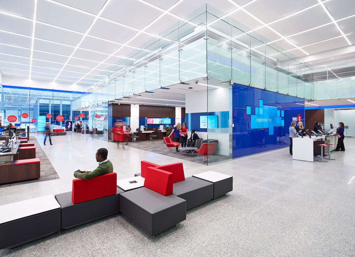 A triumph of transparency architectural lighting for Bank designs architecture