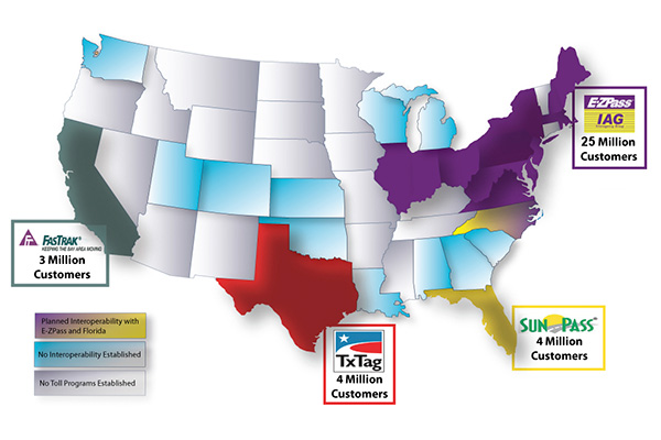 Toll Roads To Beat MAP Interoperability Deadline Public Works - Map of us toll roads