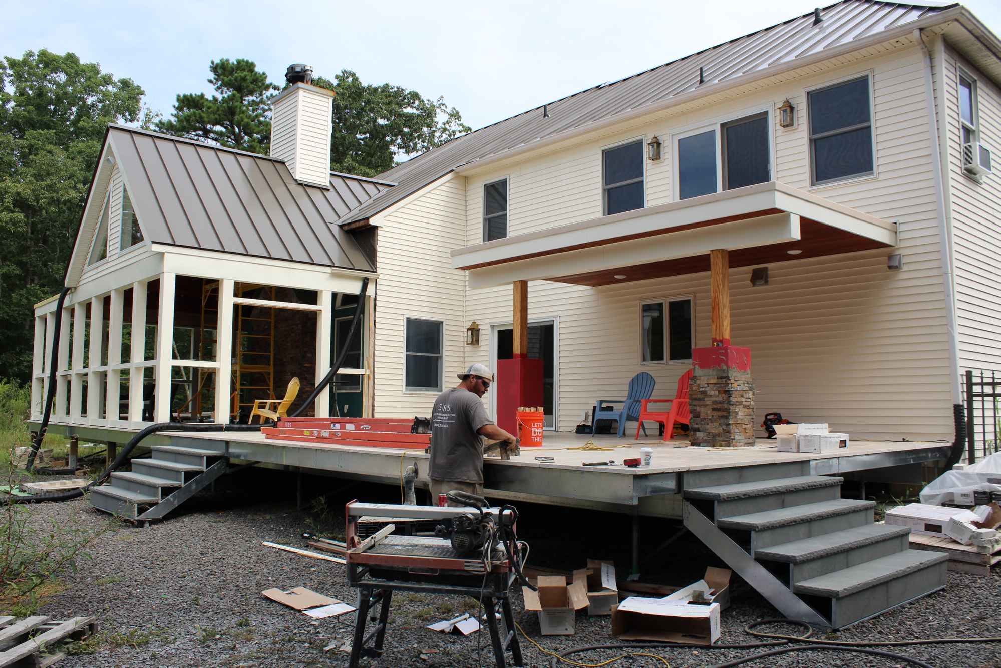Attaching deck to house building science - Building A Multilevel Deck