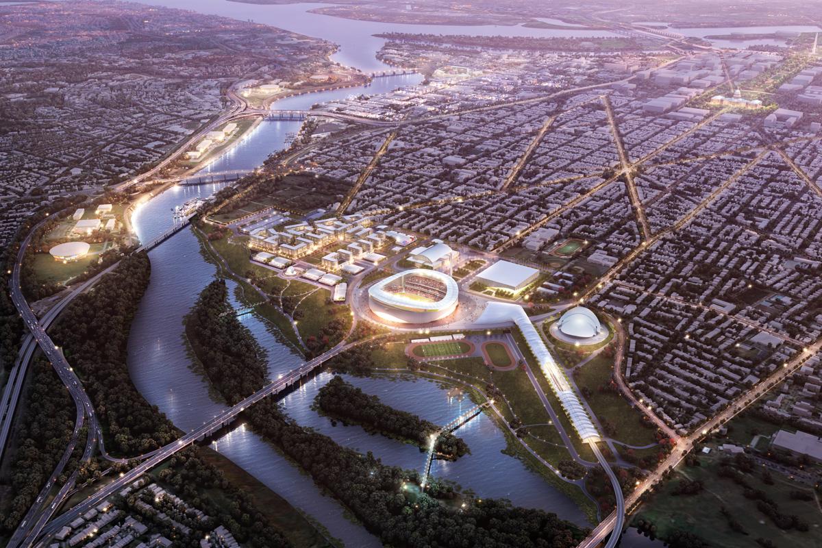 washington 2024 olympic bid master plan architect