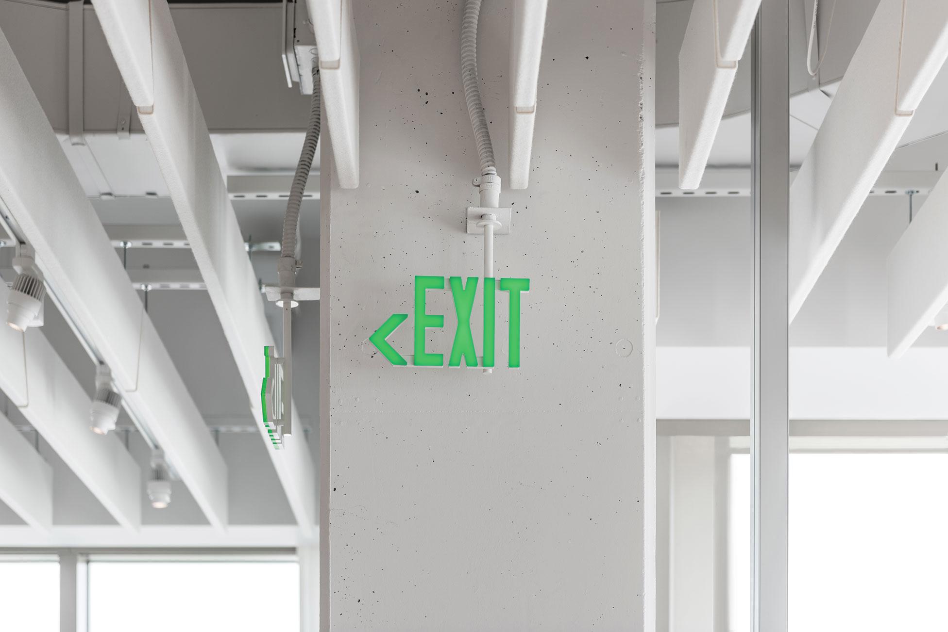 Home Graphic Design Studio Award Lelu Exit Sign Architect Magazine Product