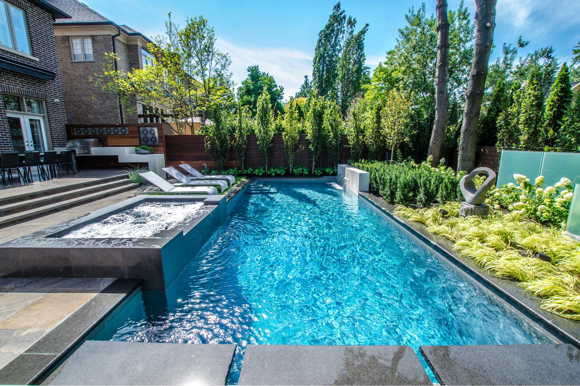 Modern Pool Design Backyards