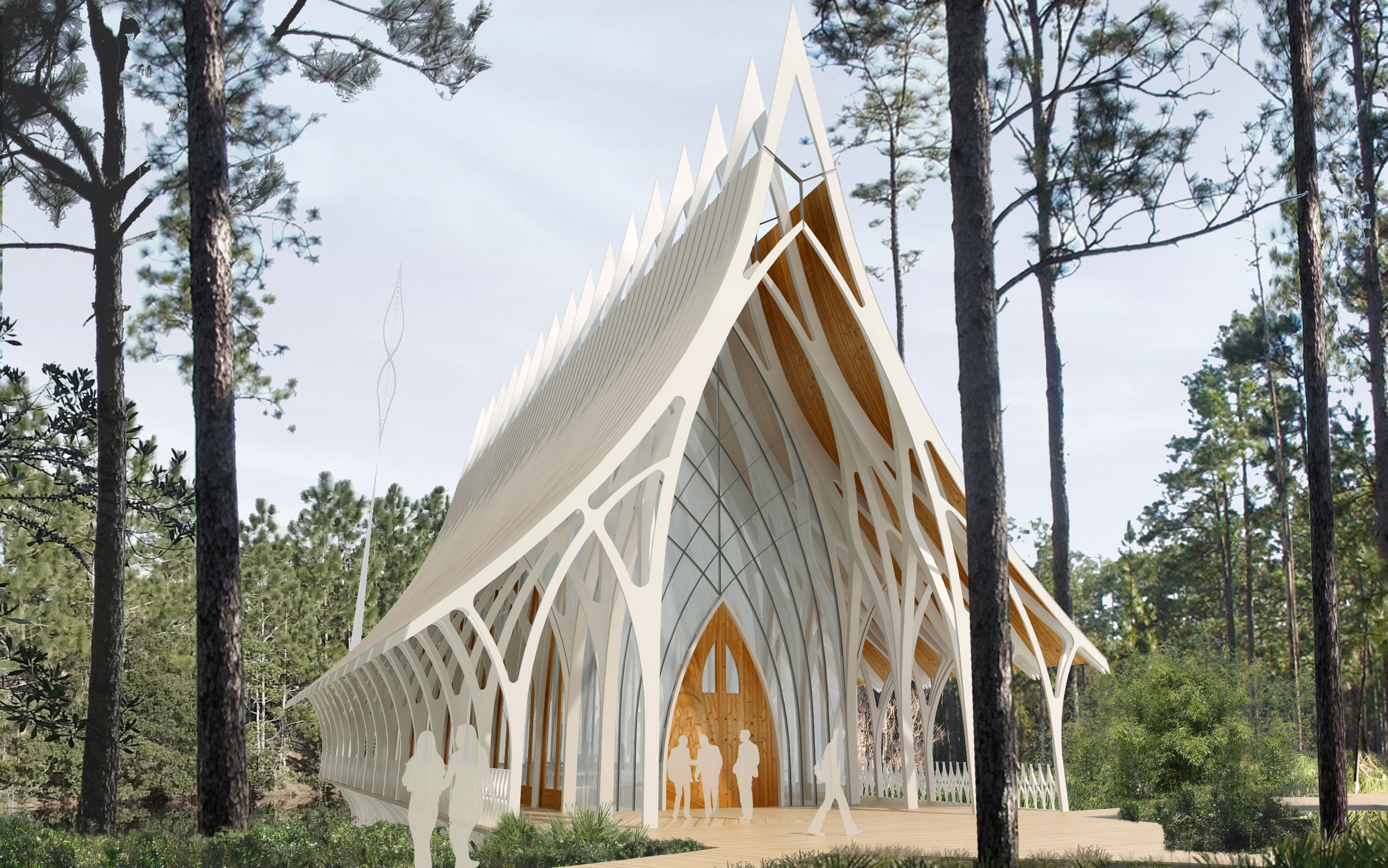Unf interfaith chapel competition entry architect for Architect florida