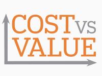 Cost Vs. Value Logo