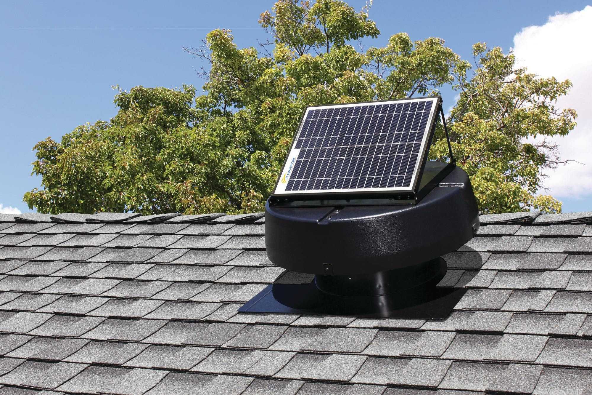 Solar Powered Attic Fan From U S Sunlight Corp