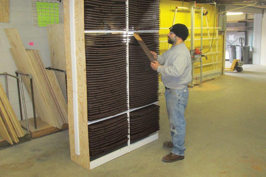 drying rack for staining shingles