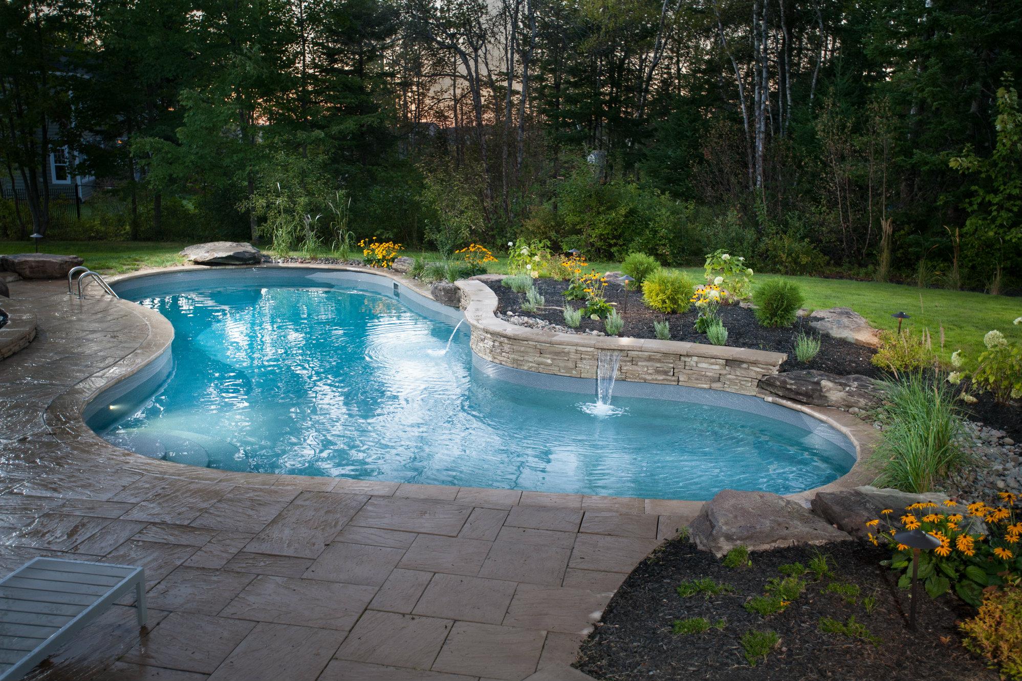 Rustic charm pool spa news awards pools design for Pool design 2016