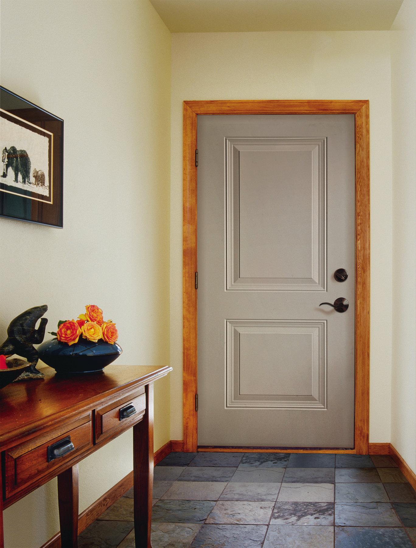 1800 #AD311E Jeld Wen Two Panel Steel Exterior Doors Remodeling Doors Green  picture/photo Jeld Wen Steel Entry Doors 43791367