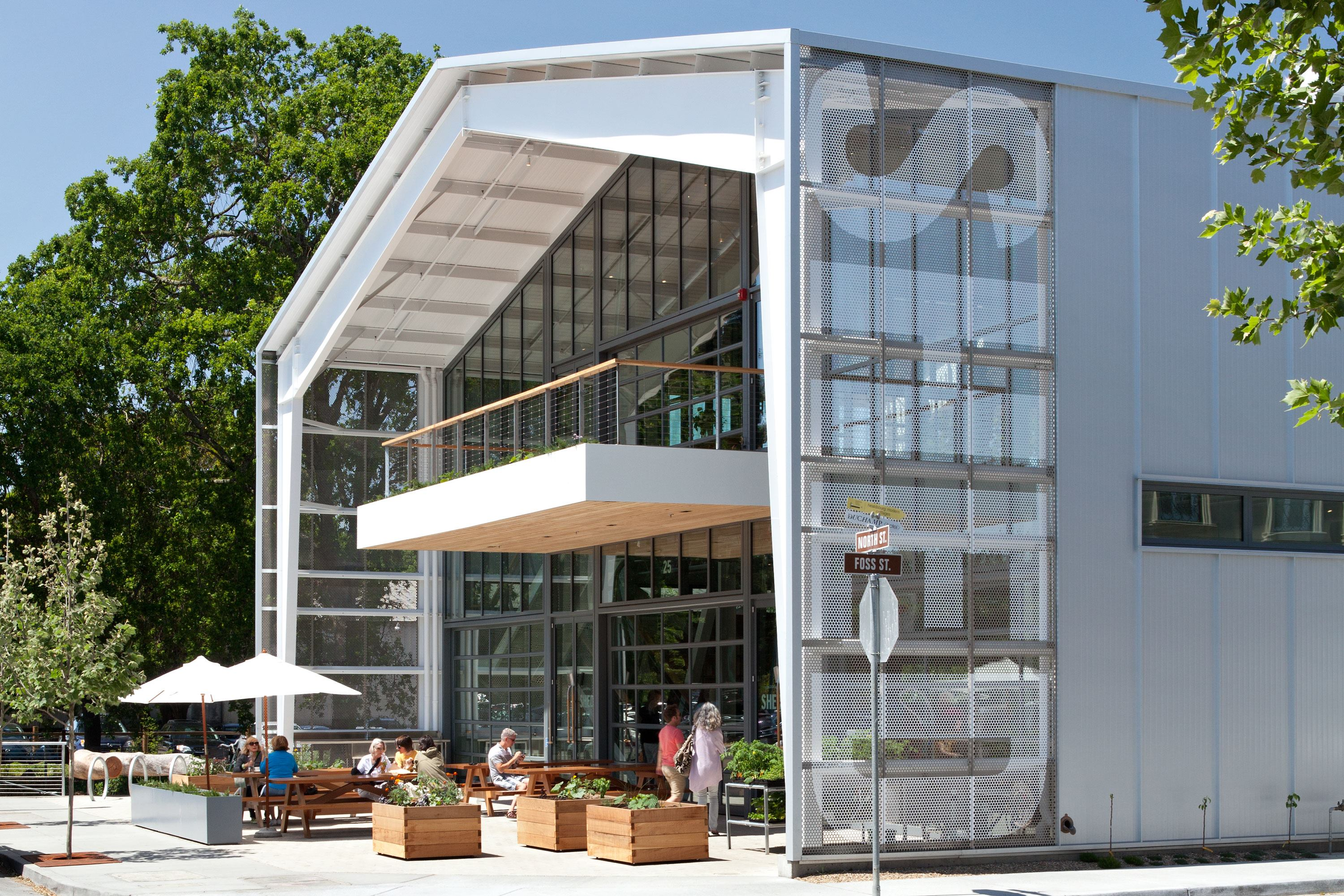 Shed store and caf architect magazine retail projects for Store building design