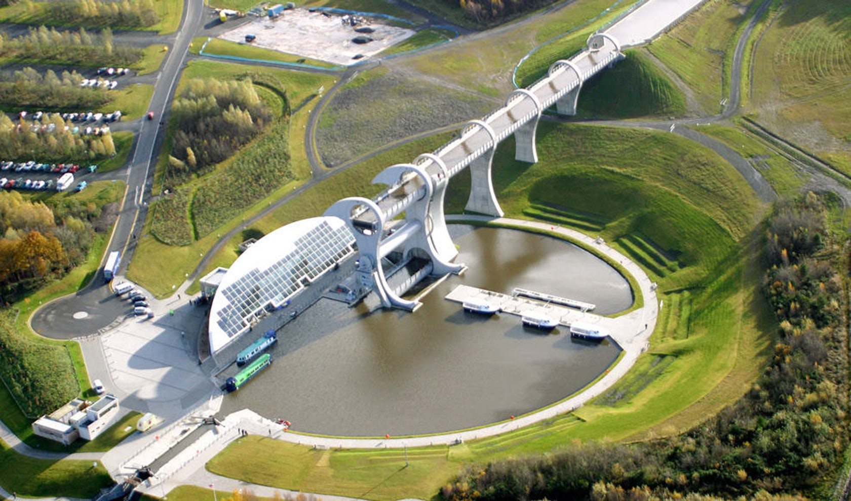 The Falkirk Wheel Amp Visitor Centre Architect Magazine