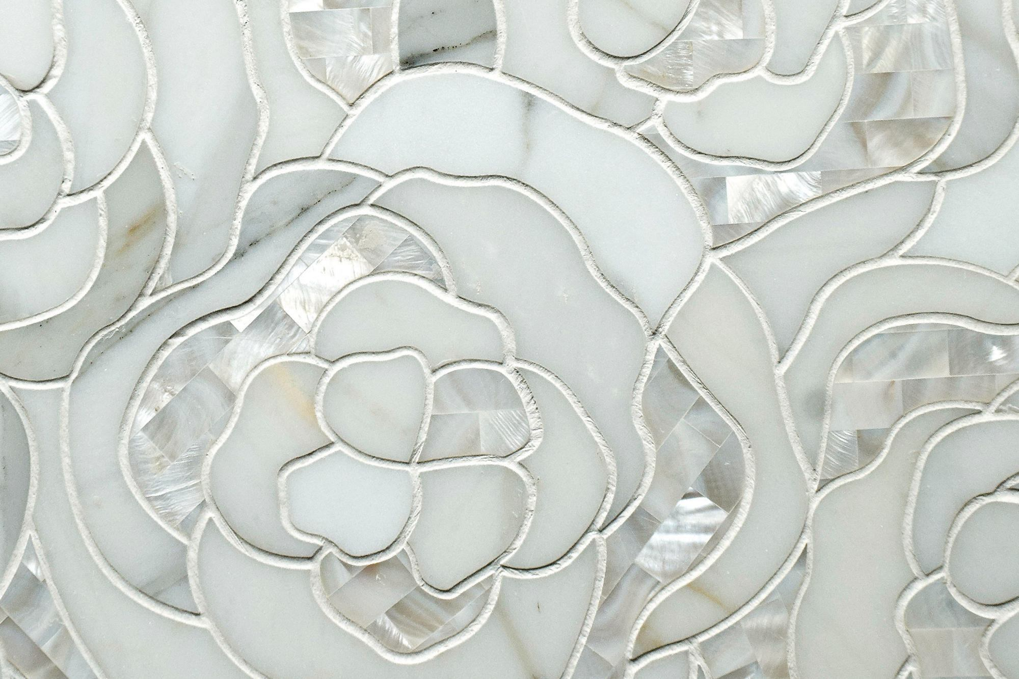Artistic Tile S Chrysanthemum Mosaic Tile Builder