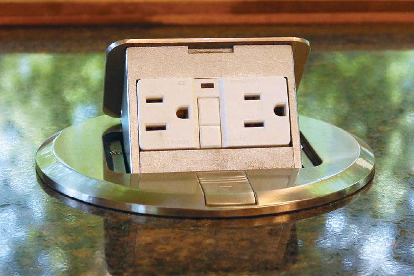 Countertop Outlet : ... , Electrical Codes, Power Pop, Options for accommodating outlets