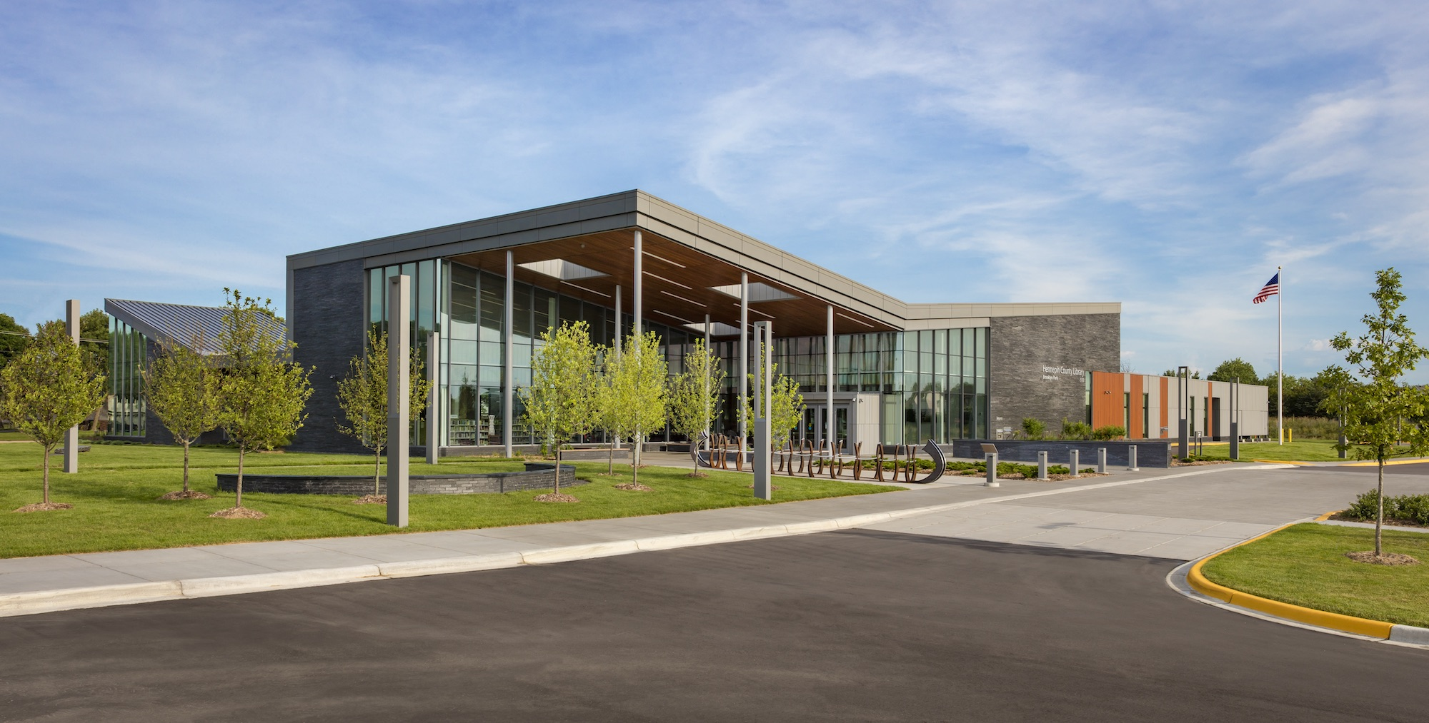 Brooklyn park library remodeling hga architects and for Front door hennepin county