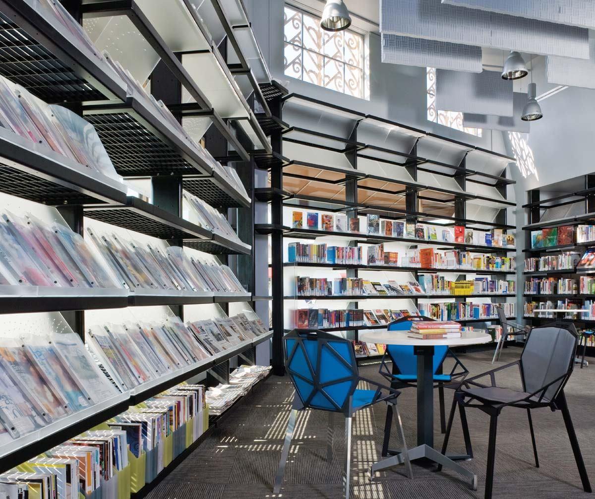 Shelving System Glendale Satellite Library Architect