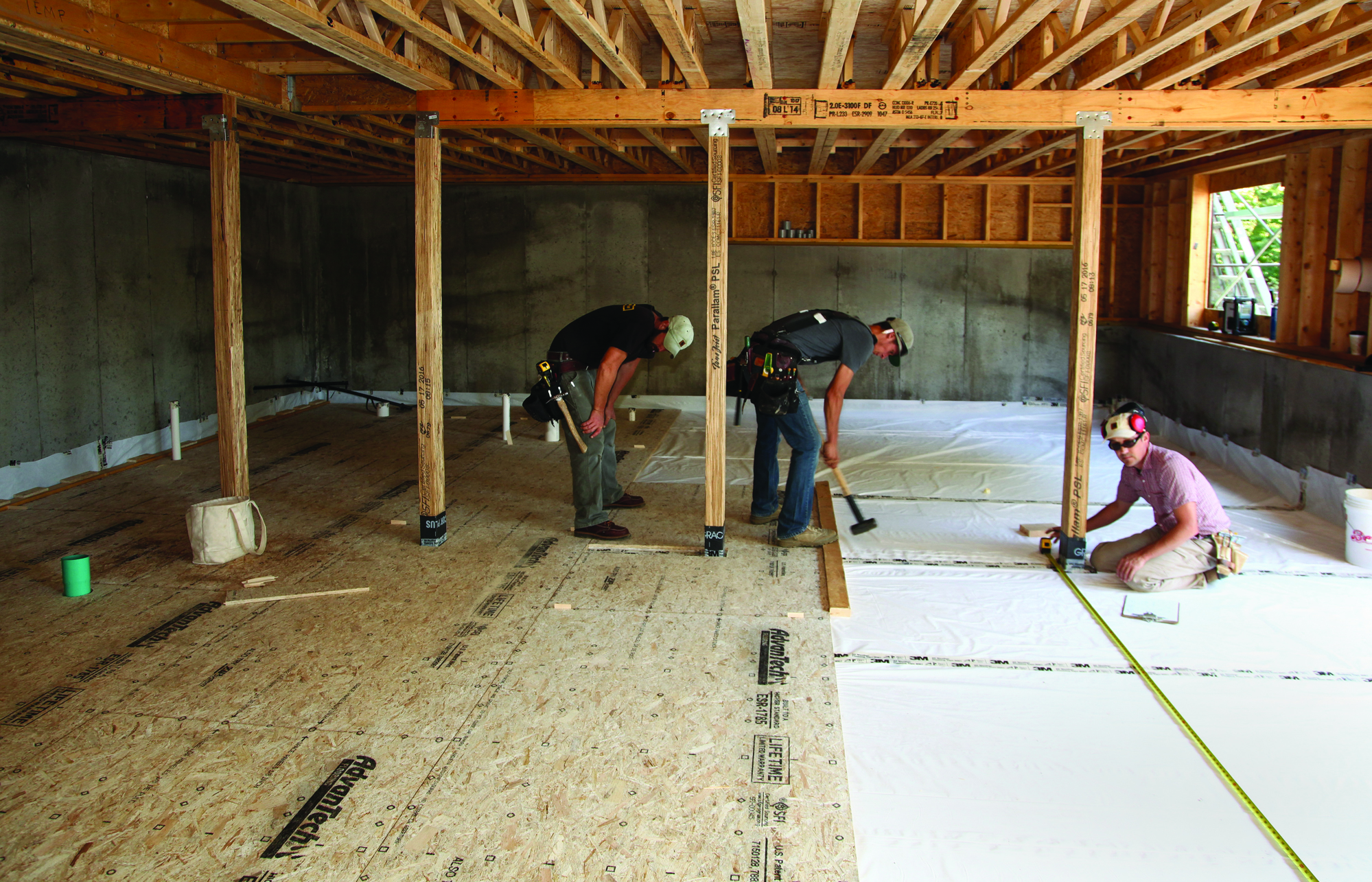 A basement floor without concrete jlc online concrete for Building a basement foundation