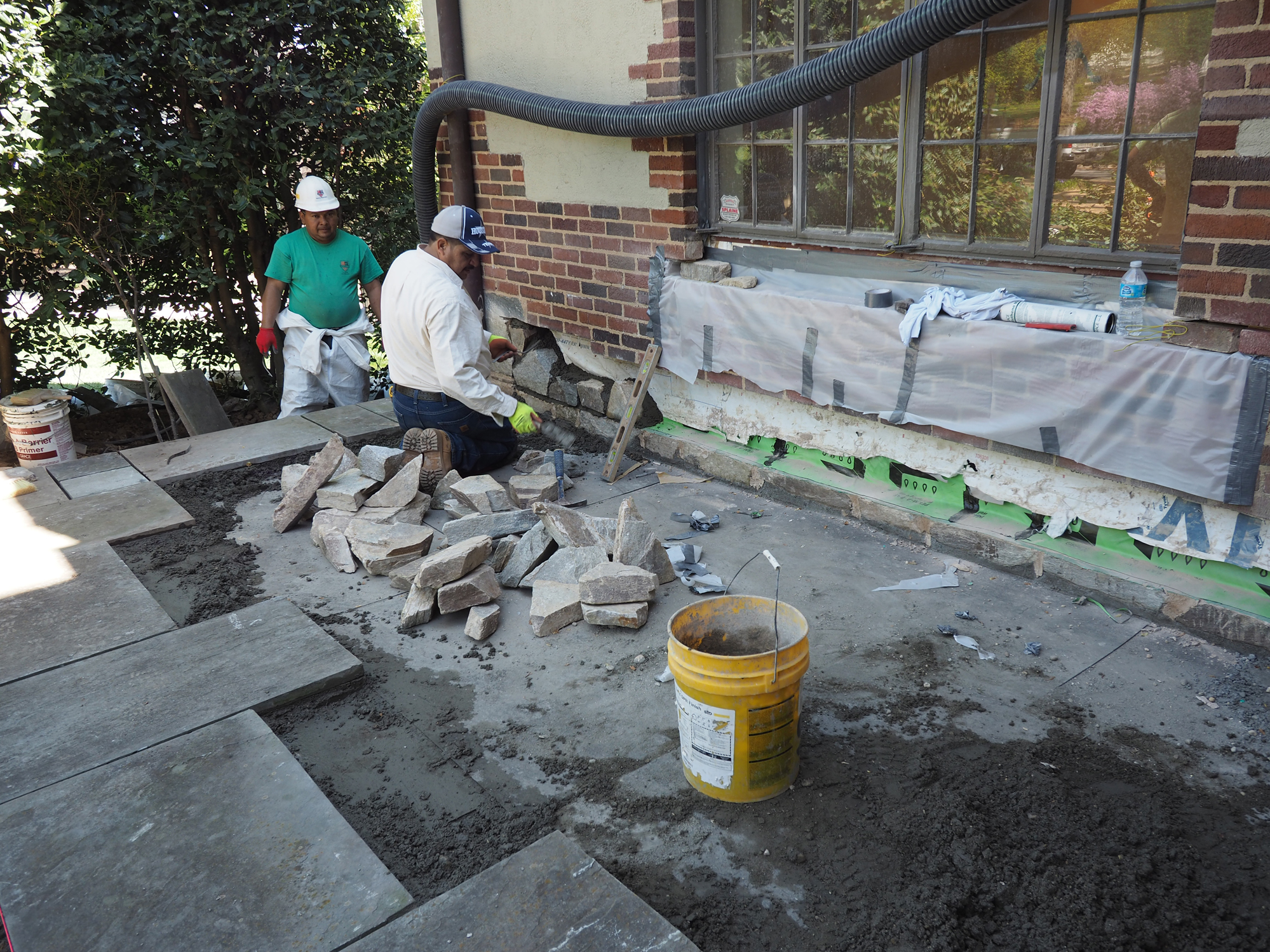 Repairing Stone Patios Over Living Space | JLC Online | Roof Decking,  Roofing, Roof Underlayment, Moisture Barriers, Decks