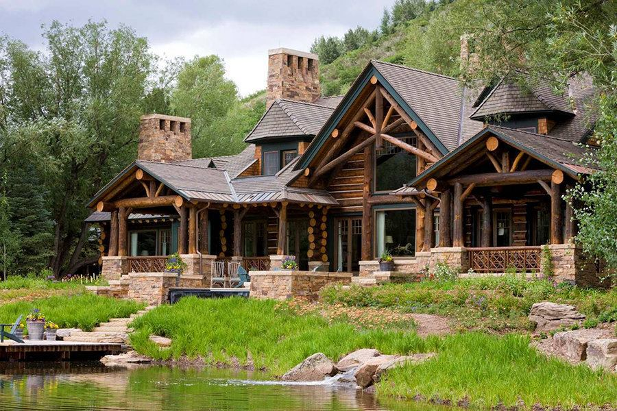 Colorado mountain home in aspen custom home magazine for Mountain bridge floor plans