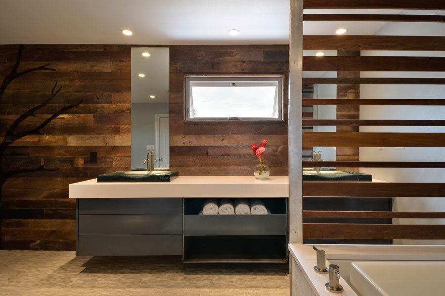 A lakeside master bath goes from awkward to serene for Bathroom interior design austin tx