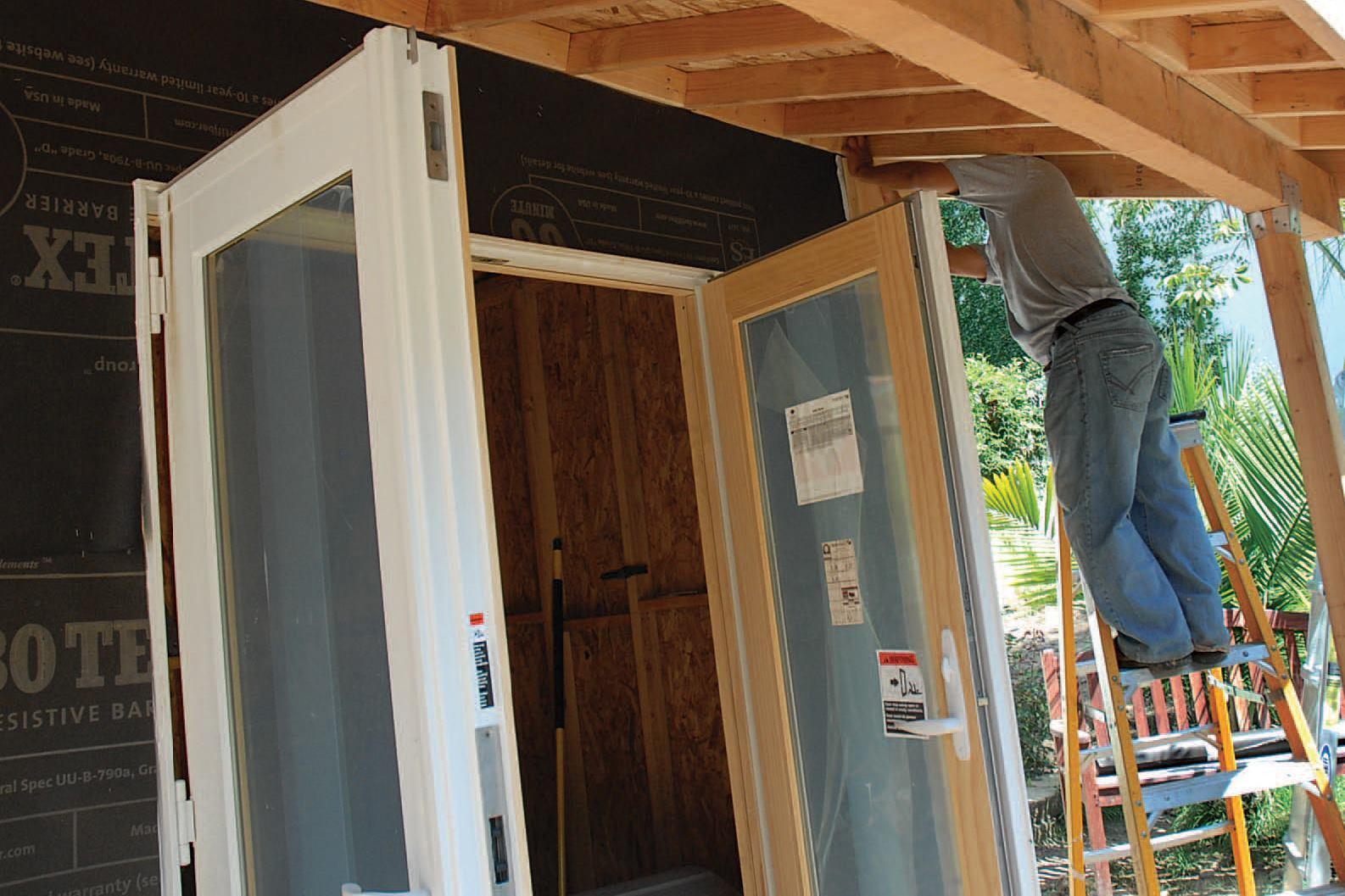 Installing french doors jlc online doors installation - How to hang interior french doors ...