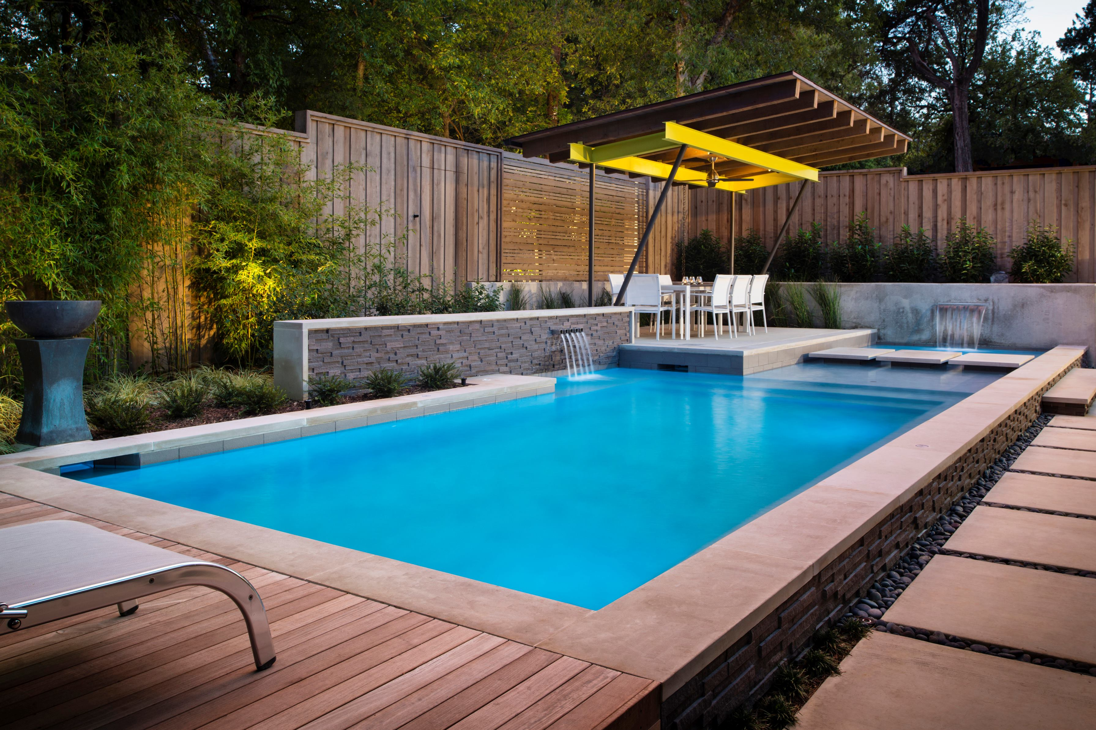 Line and texture remodeling pools landscaping for Pool design inspiration
