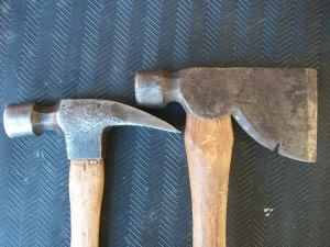 Hammer Vs Rigging Axe Tools Of The Trade Hand Tools