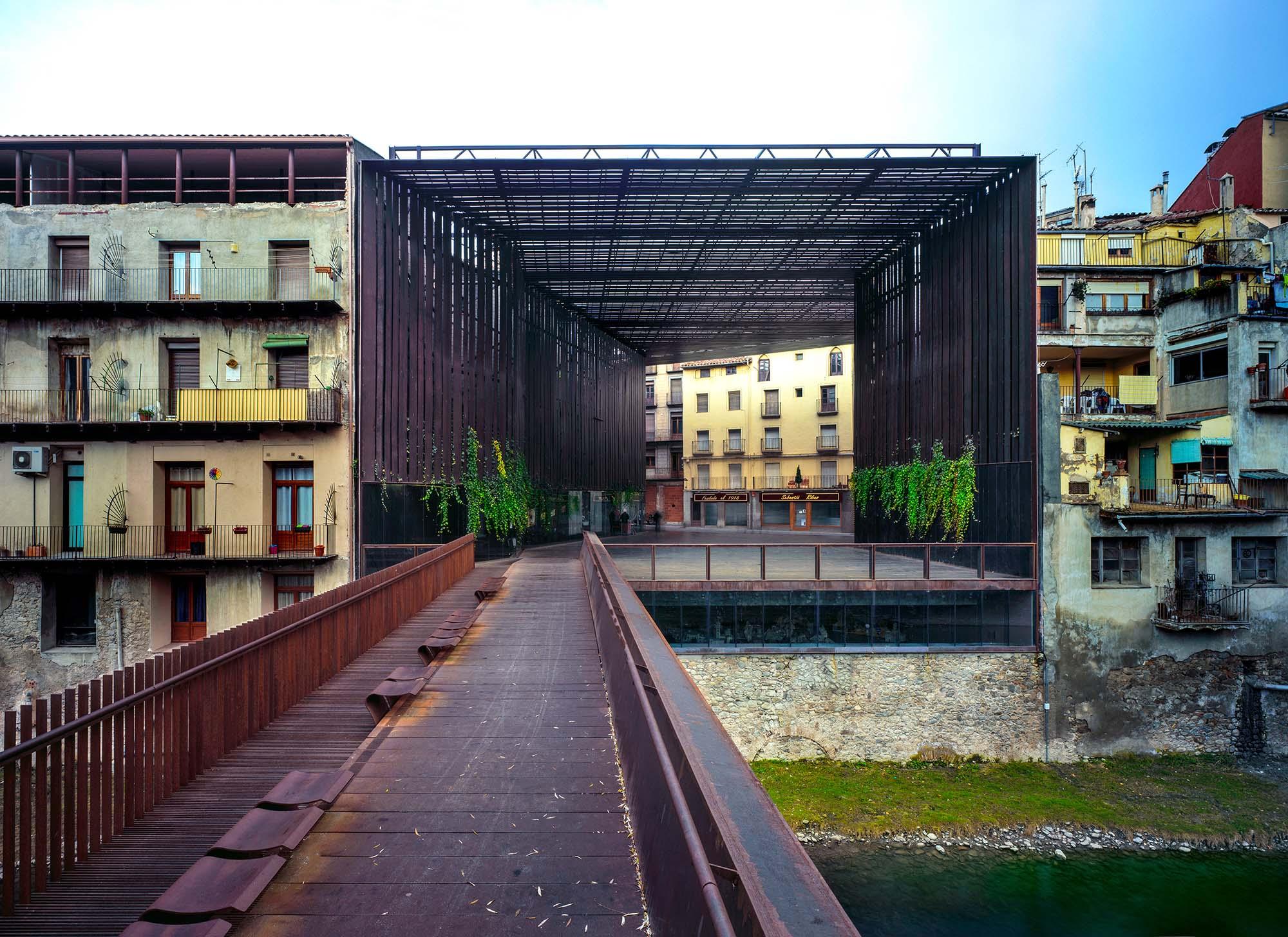 ripoll girona spain la lira theater public open space olot