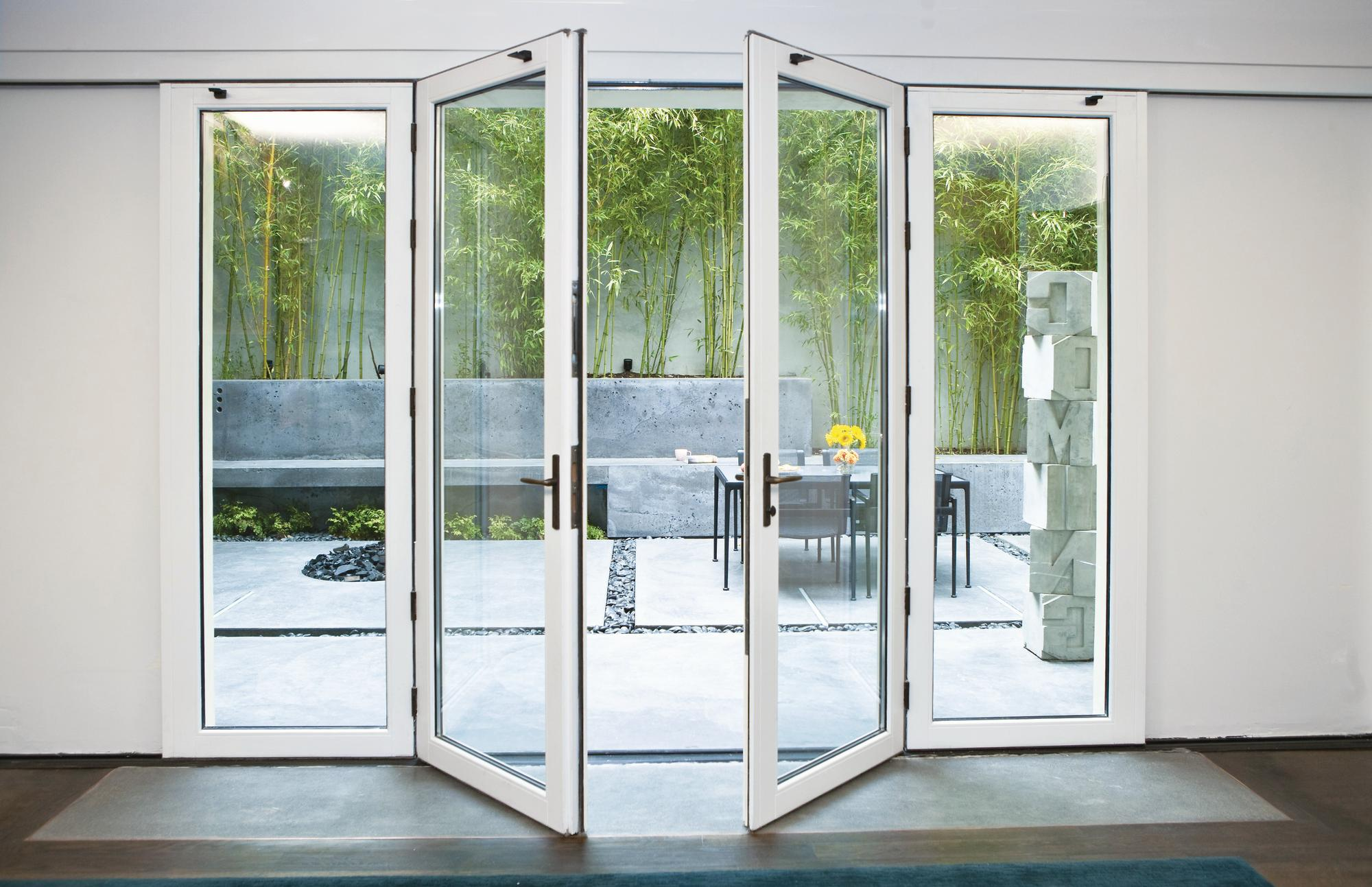 Nana wall systems vsw65 single track sliding system with for Sliding glass door to french door