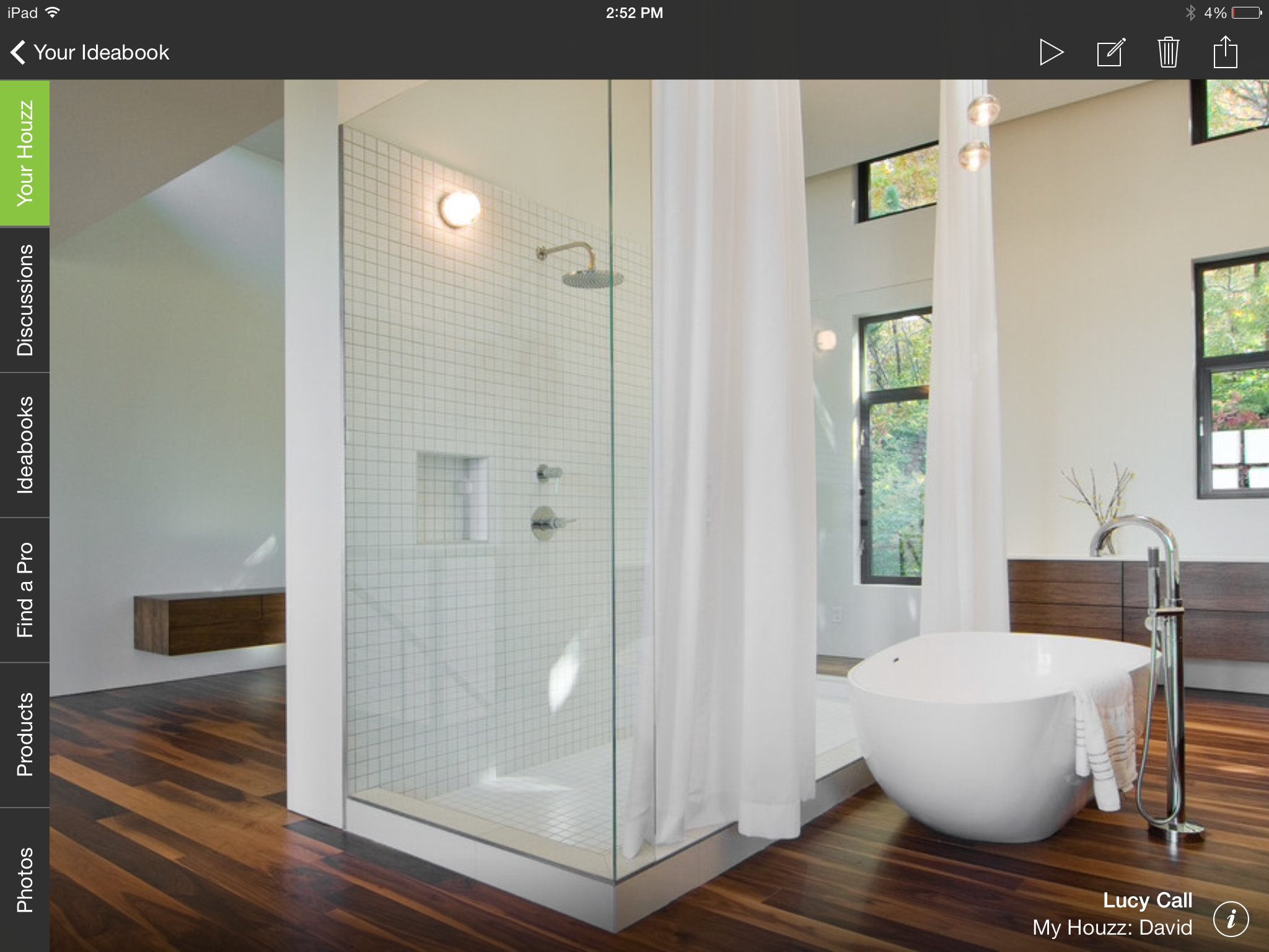 Dream bathrooms trends fewer tubs more walls around for Bathroom photos
