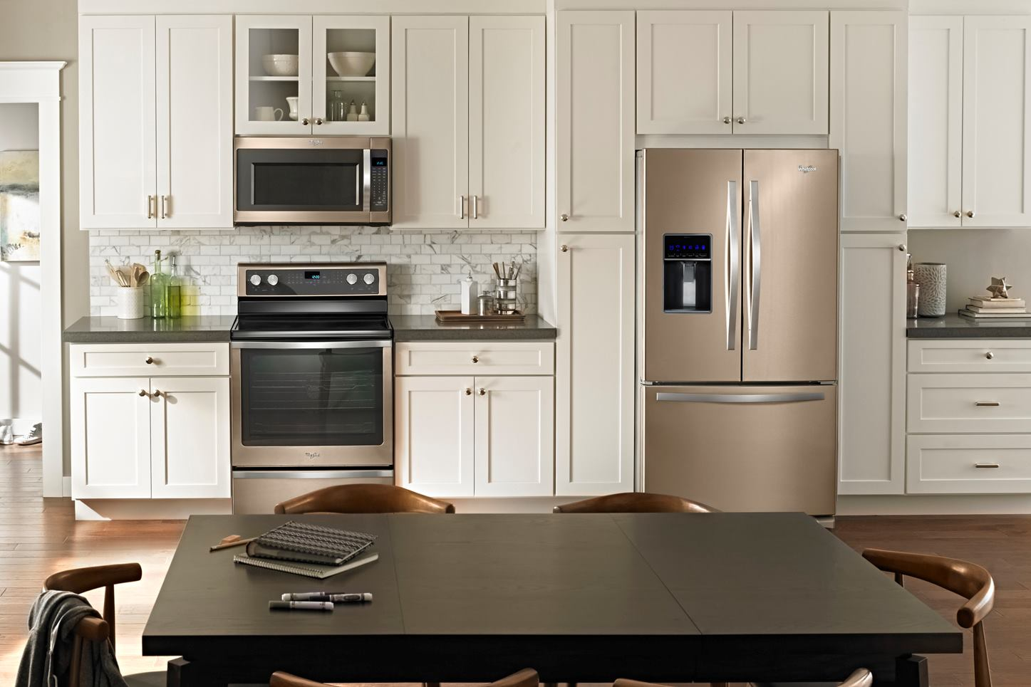 Whirlpool revisits the bronze age with new color option - Latest kitchen cabinet design 2017 ...