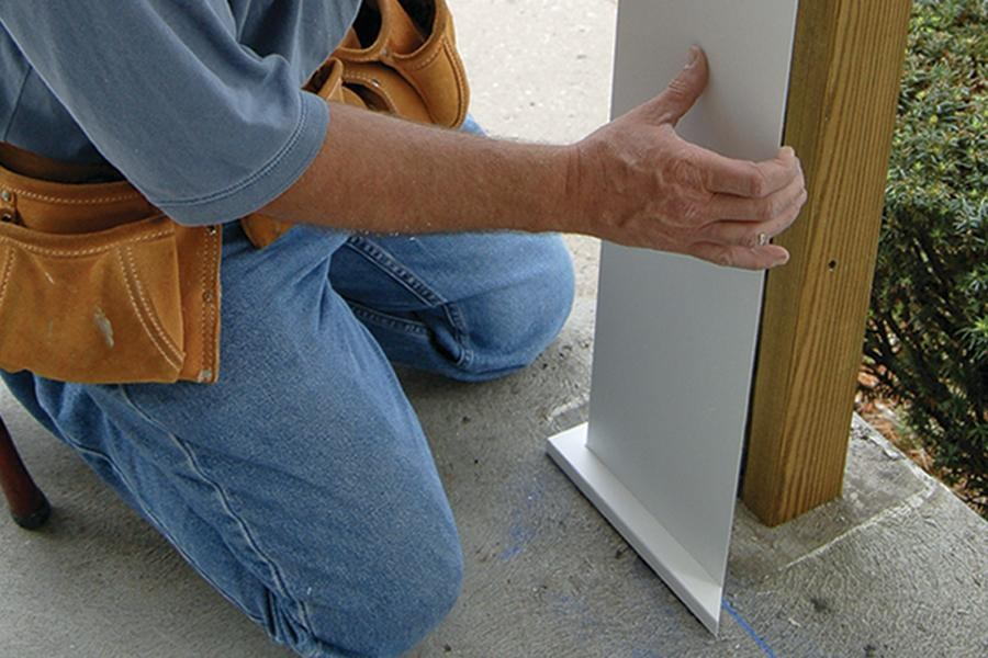 Pvc post covers jlc online molding millwork and trim for Fypon column wrap