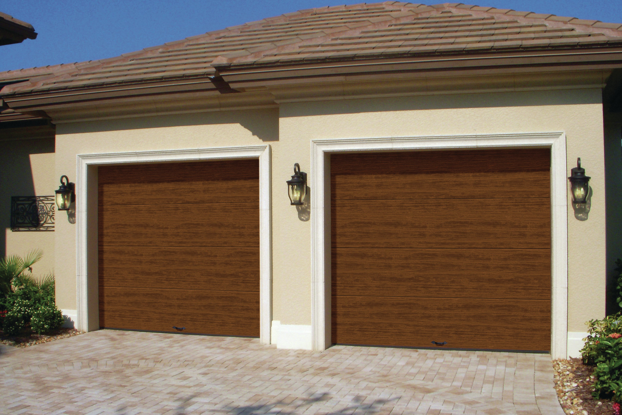 New finish for cypress collection garage doors for Garage door finishes