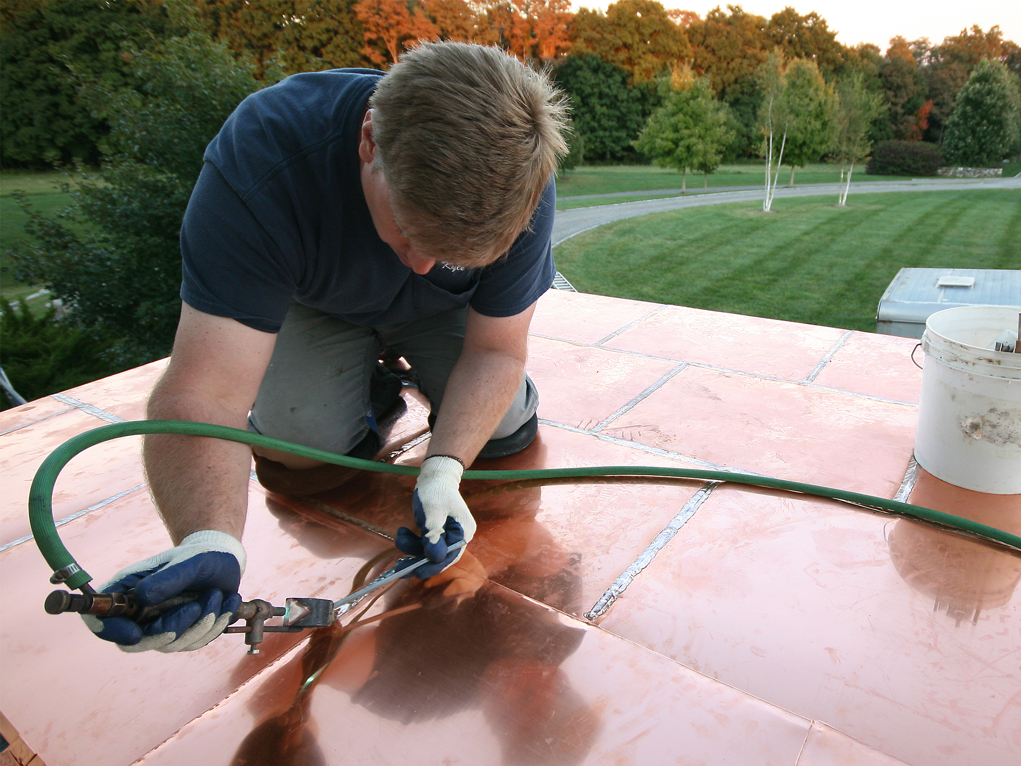 Installing A Flat Seam Copper Roof | JLC Online | Roofing, Metal Roof  Systems, Metalworking Tools