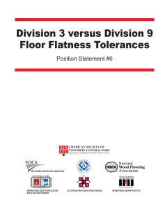 Position Statement On Floor Flatness Tolerances Concrete
