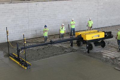 Laser Guided Screed Concrete Construction Magazine Screeds Ligchine International