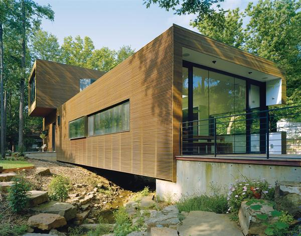 L stack house residential architect marlon blackwell Custom home builders arkansas