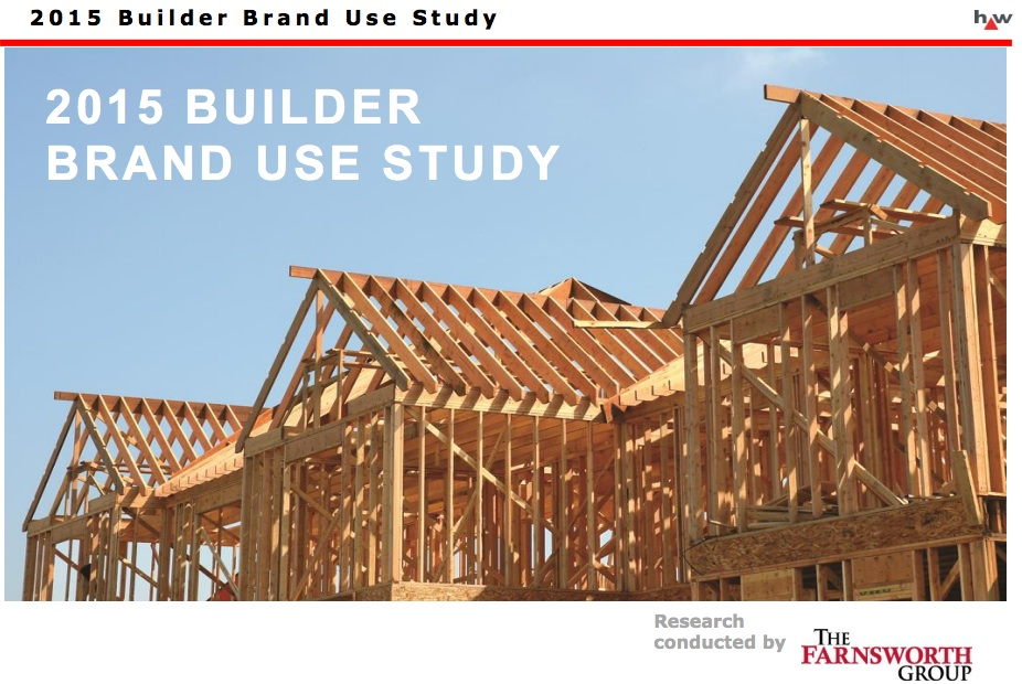 Hanley wood publishes 2015 builder brand use study results for Handley wood