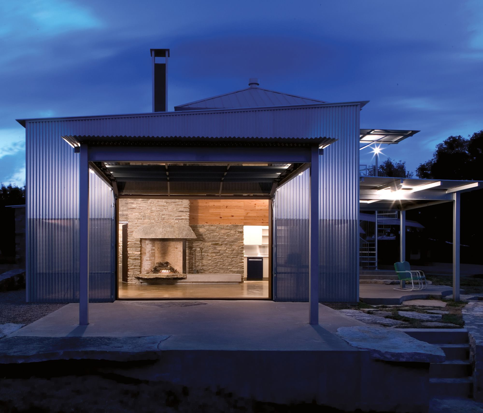 Guesthouse and party barn hico texas residential for Residential architect design awards
