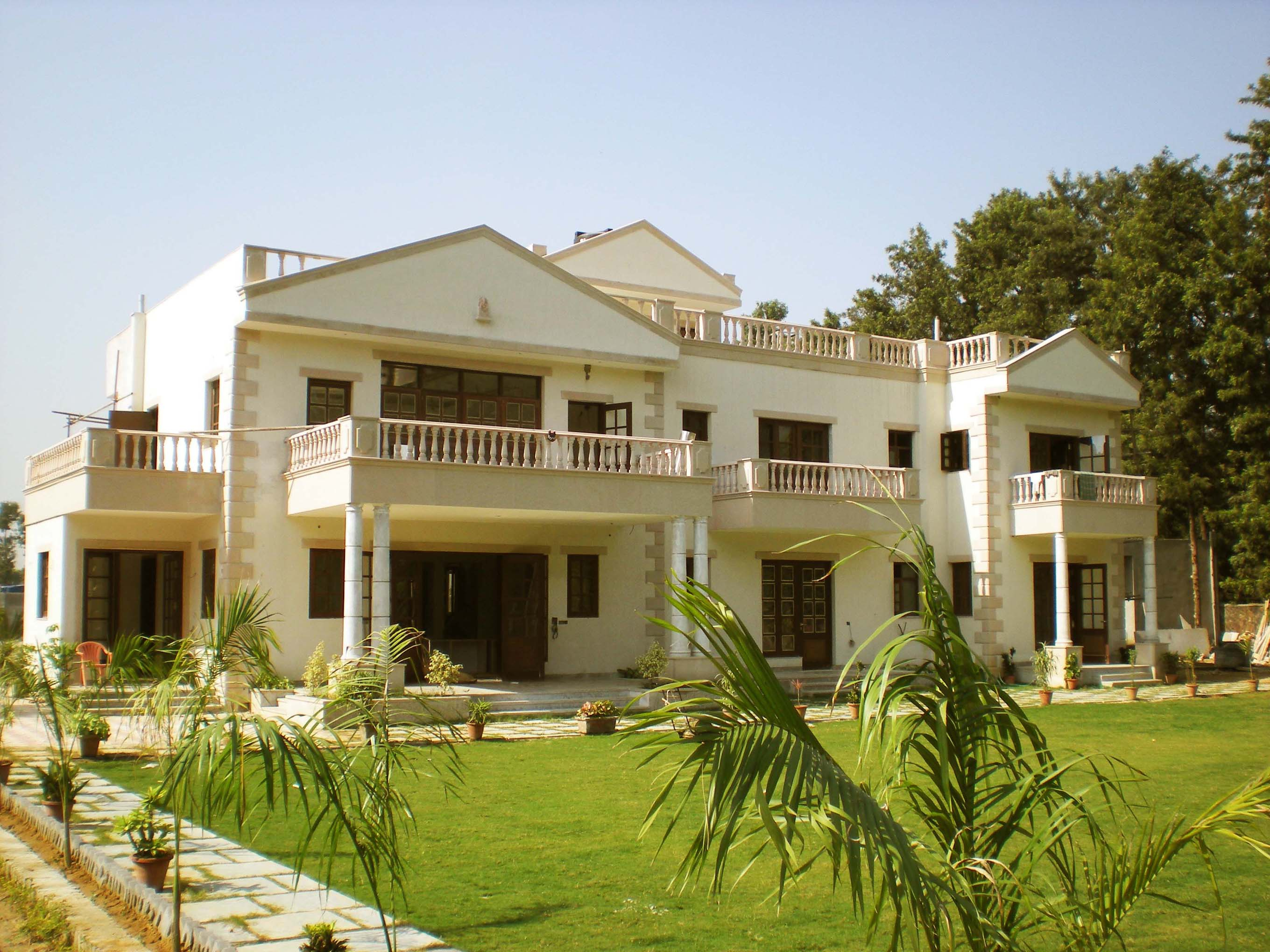 Kumar farm house south delhi residential architect Farmhouse design india
