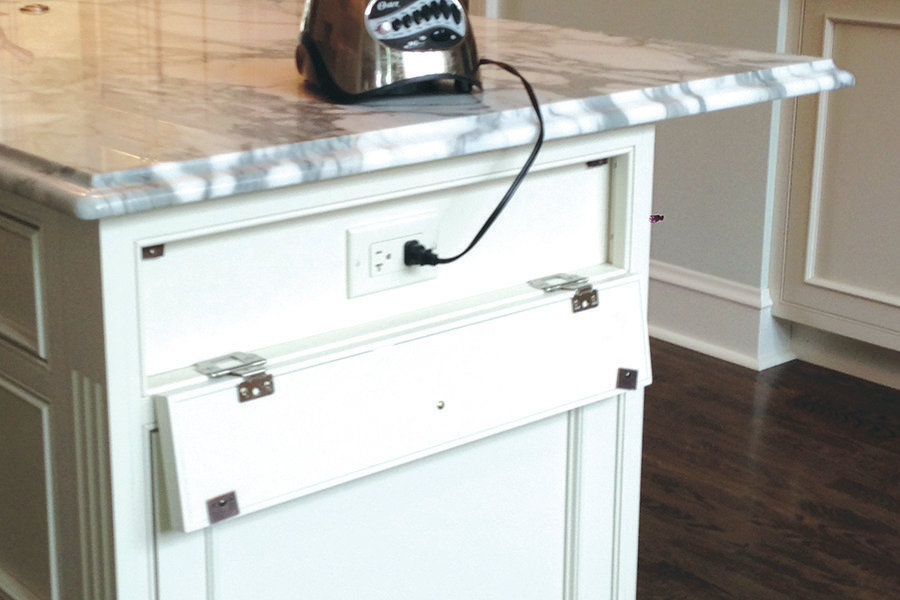 Kitchen Island Hidden Electrical Outlets