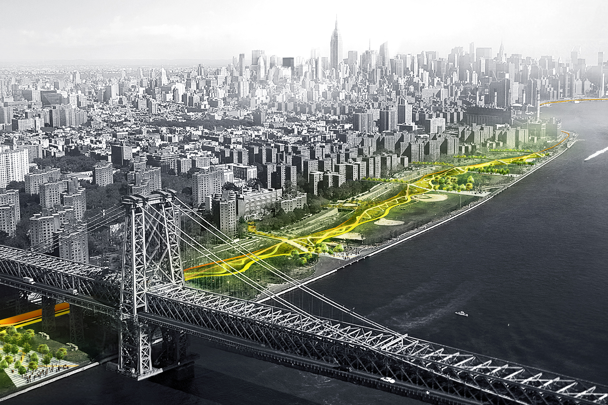 Q a big and one architecture on making the dryline a for Architecture new york