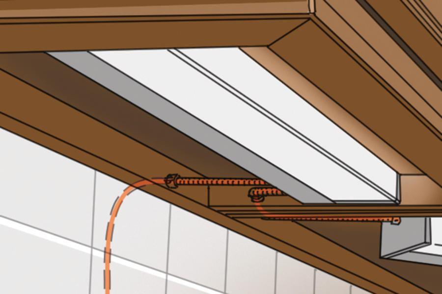 wiring under cabinet lighting. installing undercabinet lighting builder magazine how to electrical wiring under cabinet